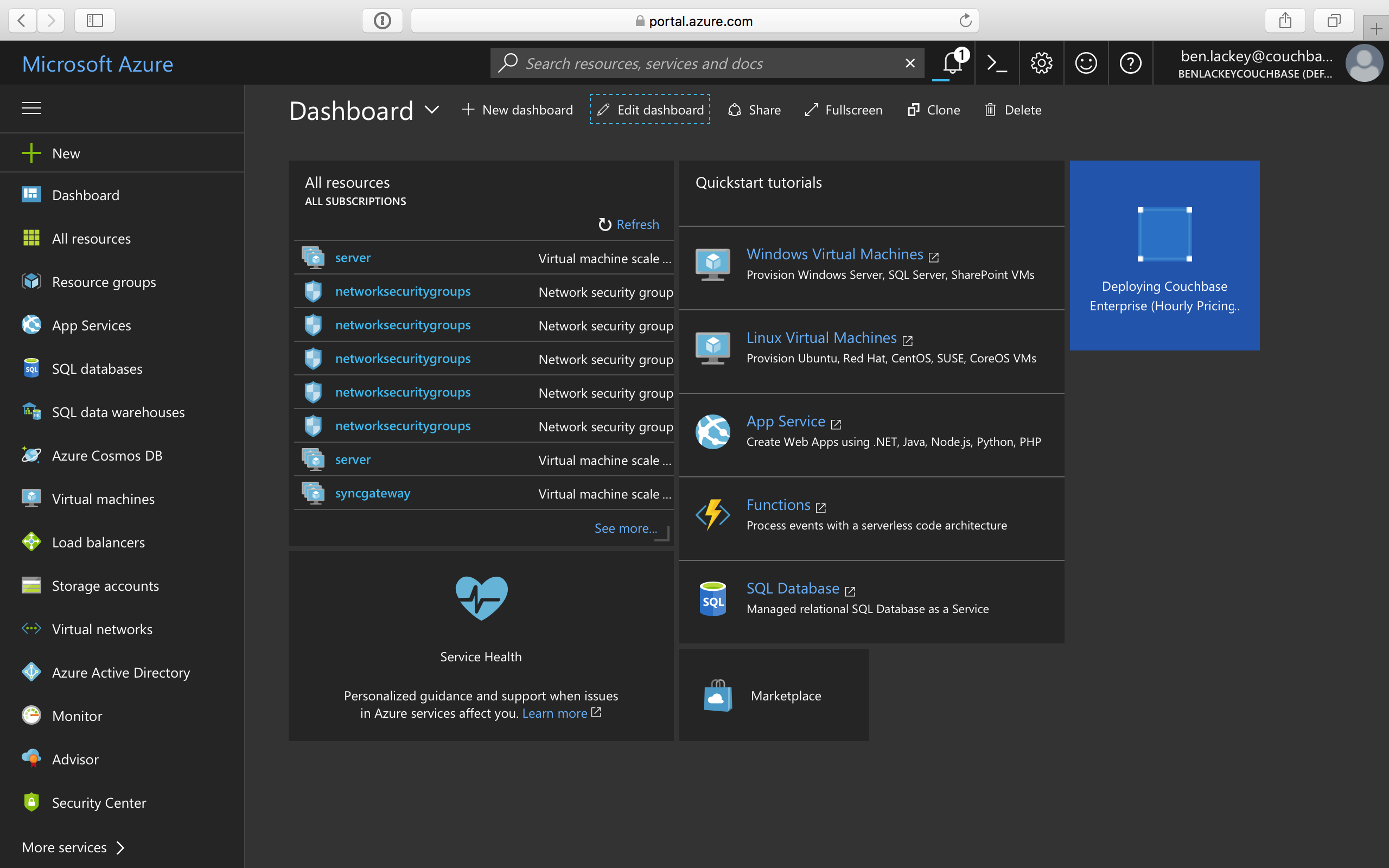 How to] Deploy Couchbase from Azure Marketplace