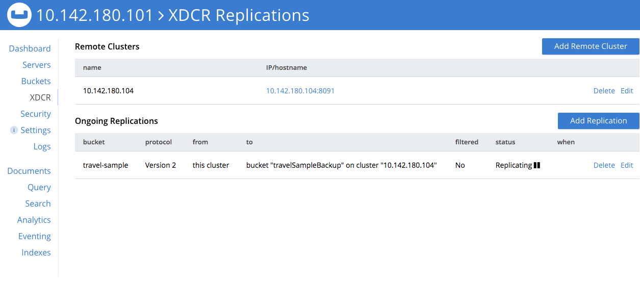 Recover Data with XDCR | Couchbase Docs