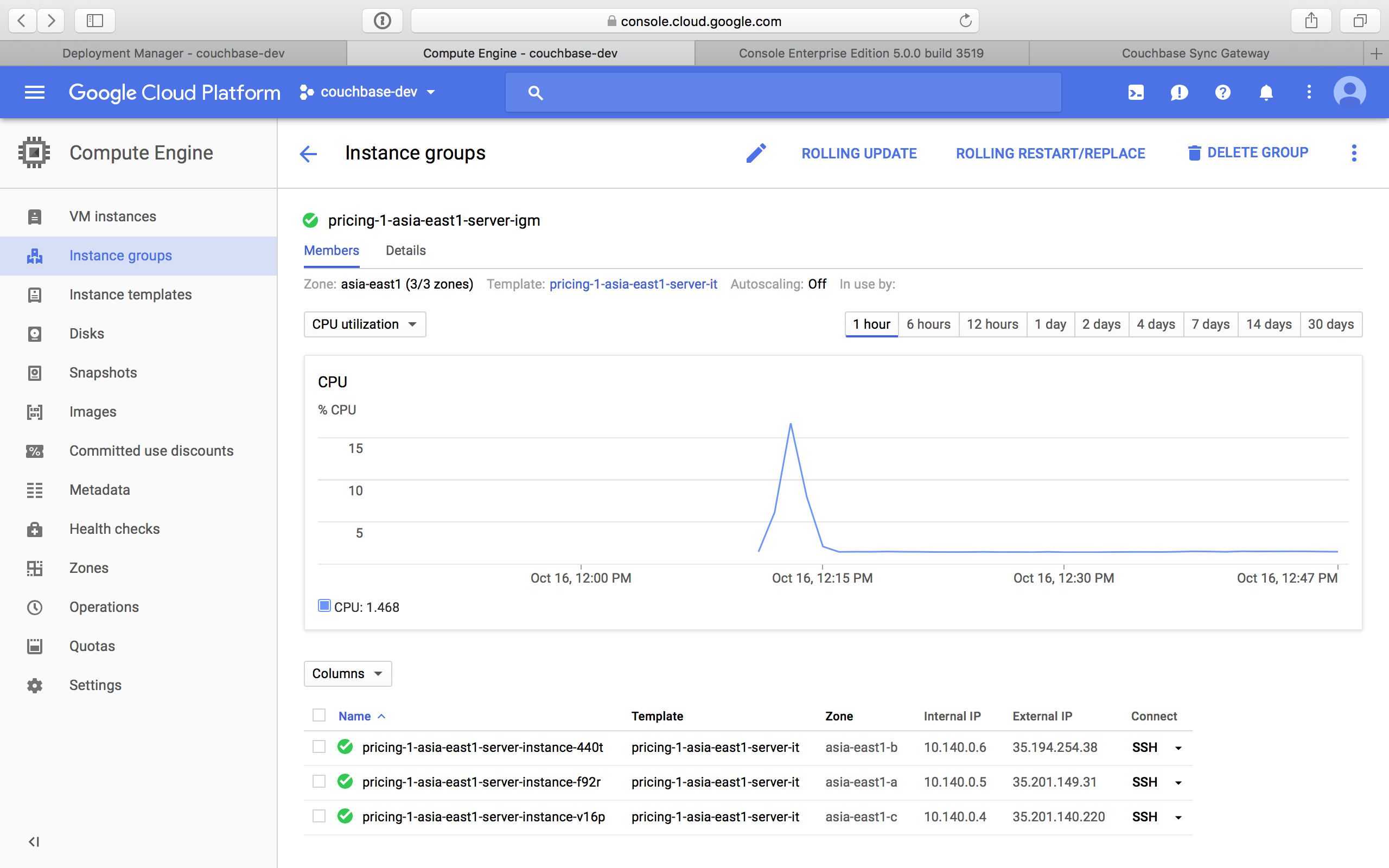 Deploying Couchbase on Google Cloud Launcher | Couchbase Docs