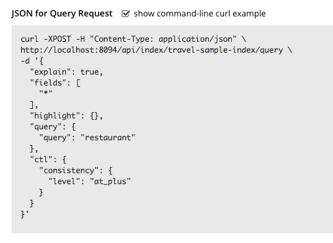 Searching with the REST API | Couchbase Docs
